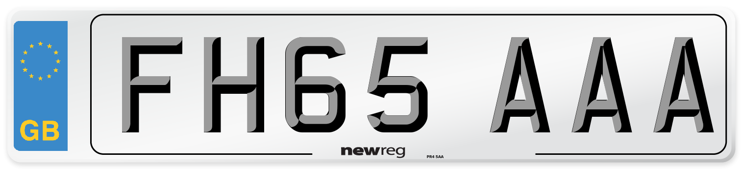 FH65 AAA Number Plate from New Reg