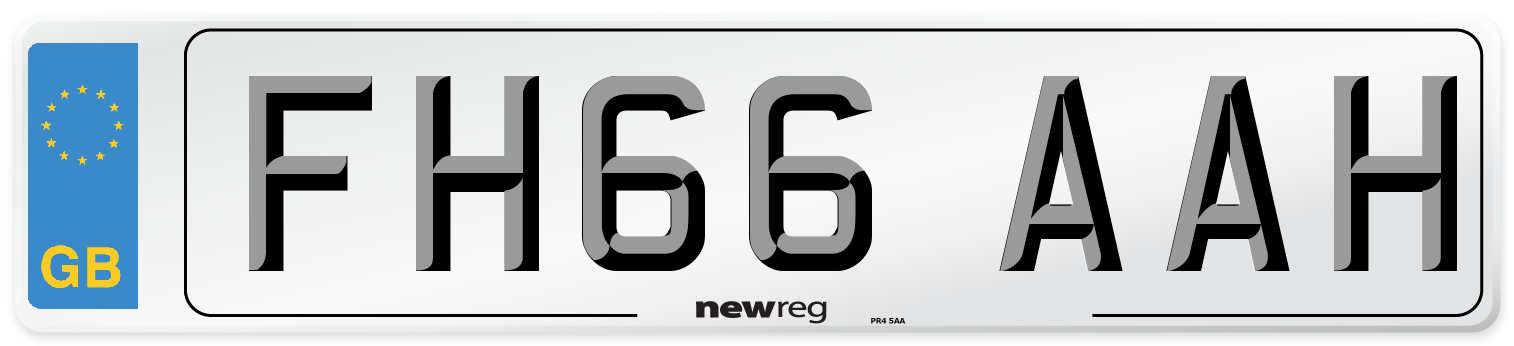 FH66 AAH Number Plate from New Reg