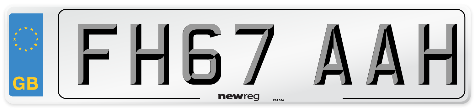 FH67 AAH Number Plate from New Reg