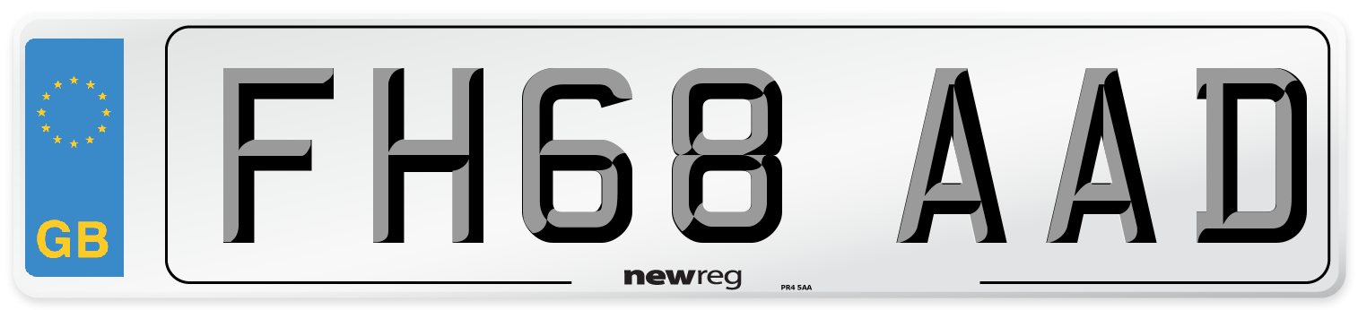 FH68 AAD Number Plate from New Reg