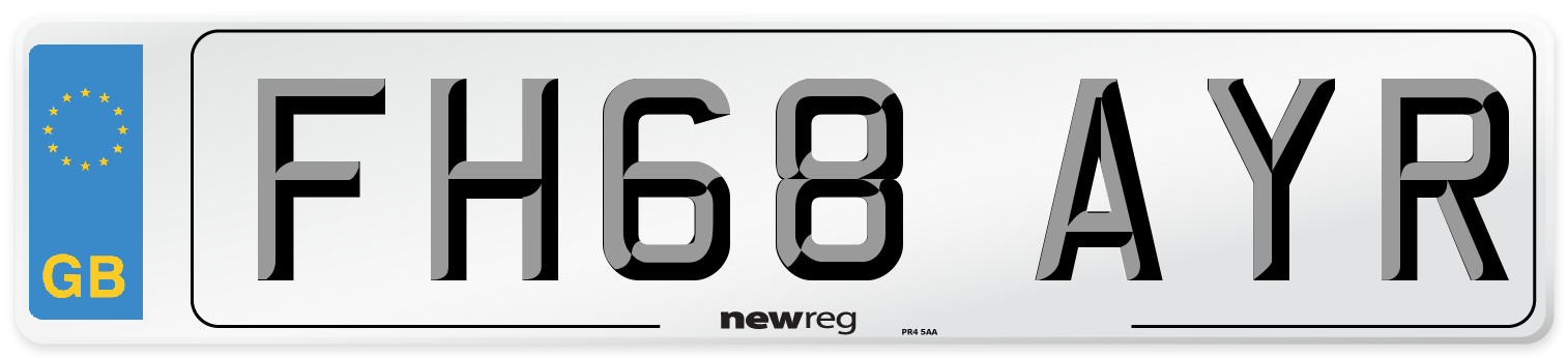 FH68 AYR Number Plate from New Reg