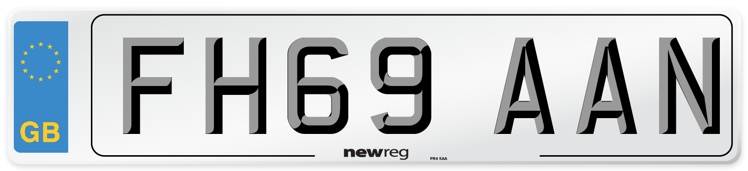FH69 AAN Number Plate from New Reg