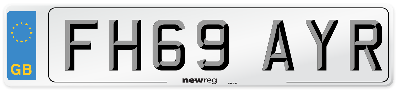 FH69 AYR Number Plate from New Reg