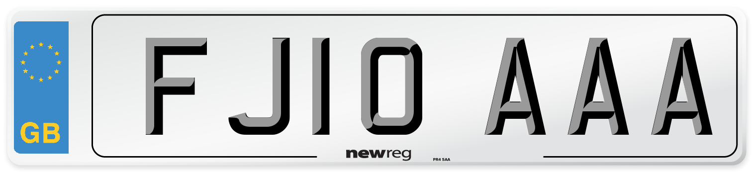FJ10 AAA Number Plate from New Reg