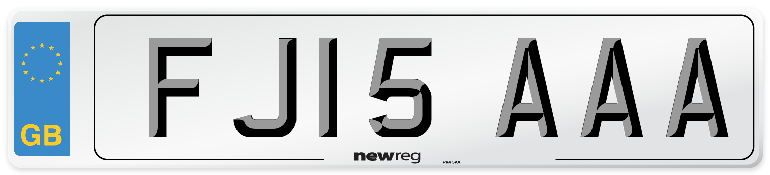 FJ15 AAA Number Plate from New Reg