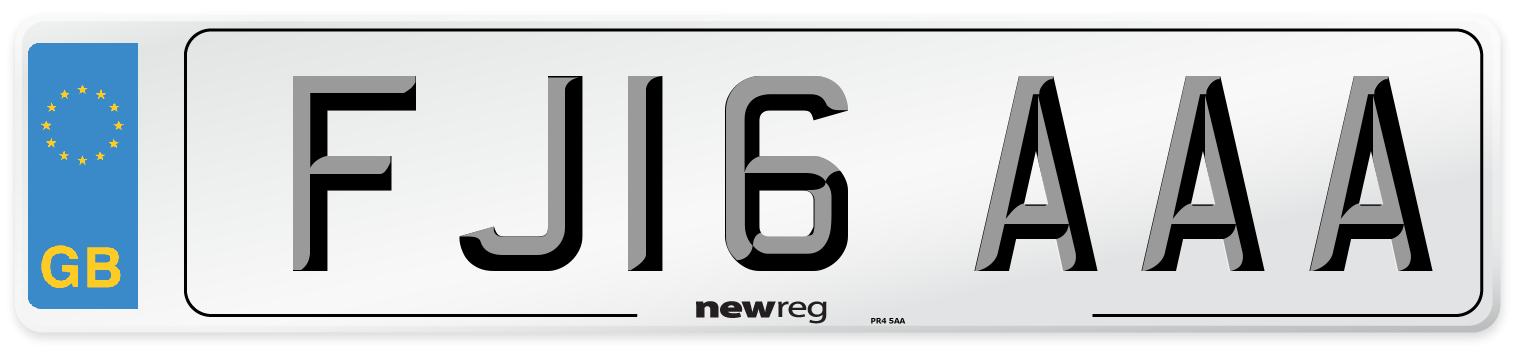 FJ16 AAA Number Plate from New Reg