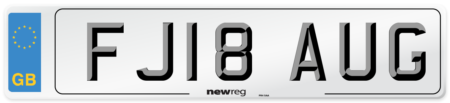 FJ18 AUG Number Plate from New Reg