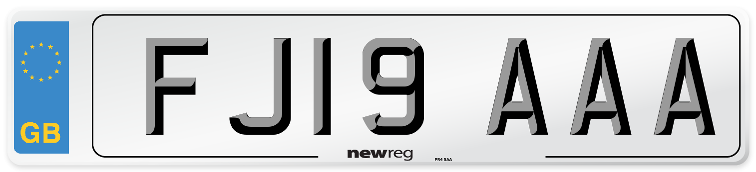 FJ19 AAA Number Plate from New Reg