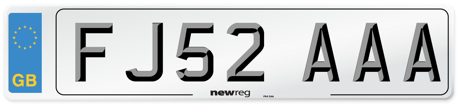 FJ52 AAA Number Plate from New Reg