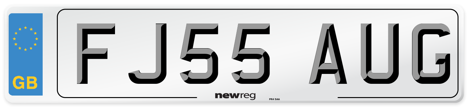FJ55 AUG Number Plate from New Reg