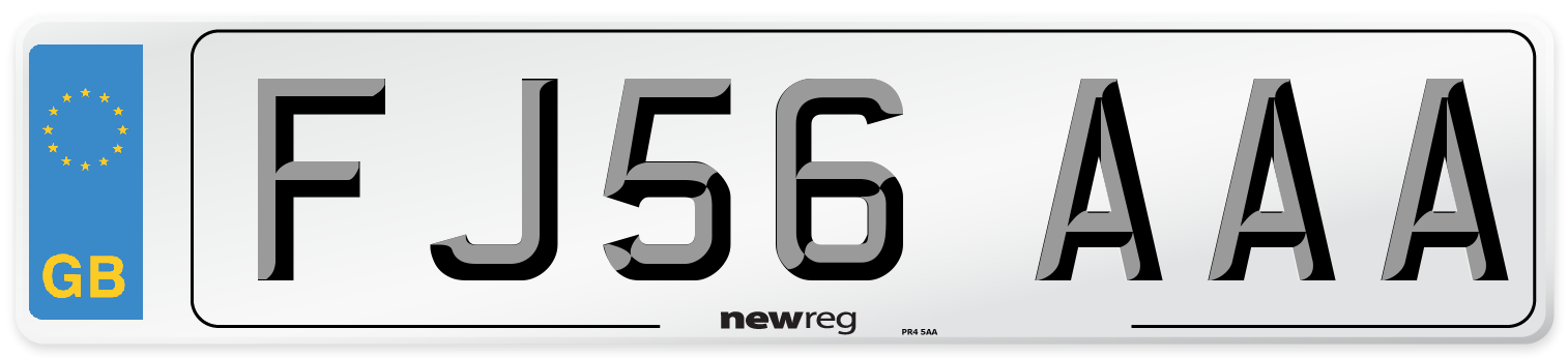 FJ56 AAA Number Plate from New Reg