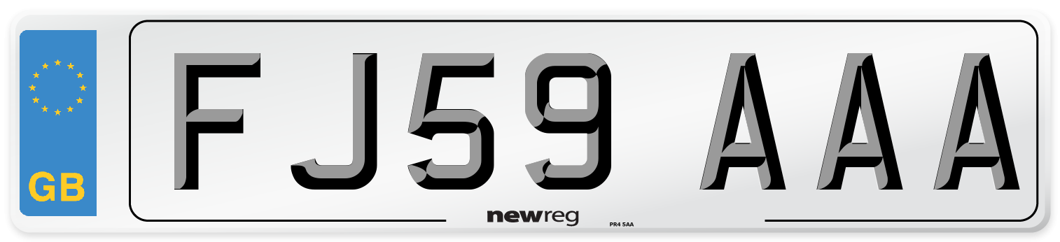 FJ59 AAA Number Plate from New Reg