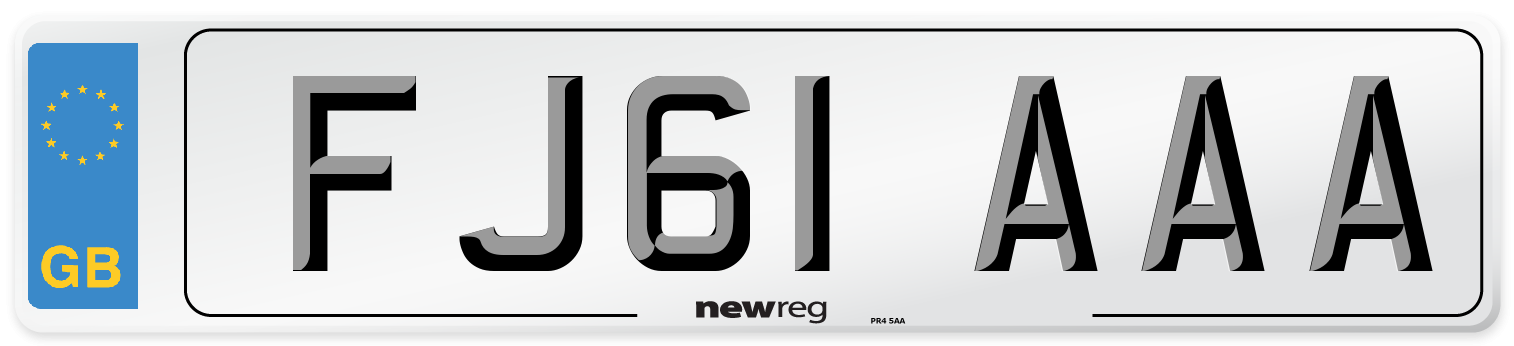 FJ61 AAA Number Plate from New Reg