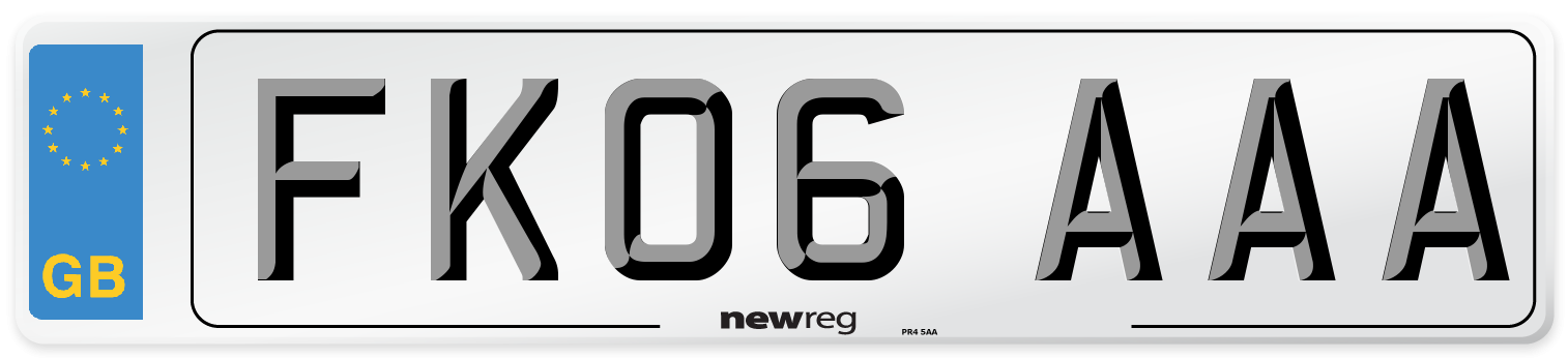 FK06 AAA Number Plate from New Reg