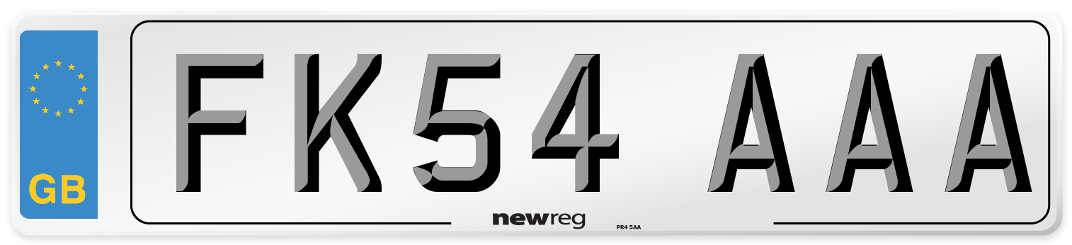 FK54 AAA Number Plate from New Reg