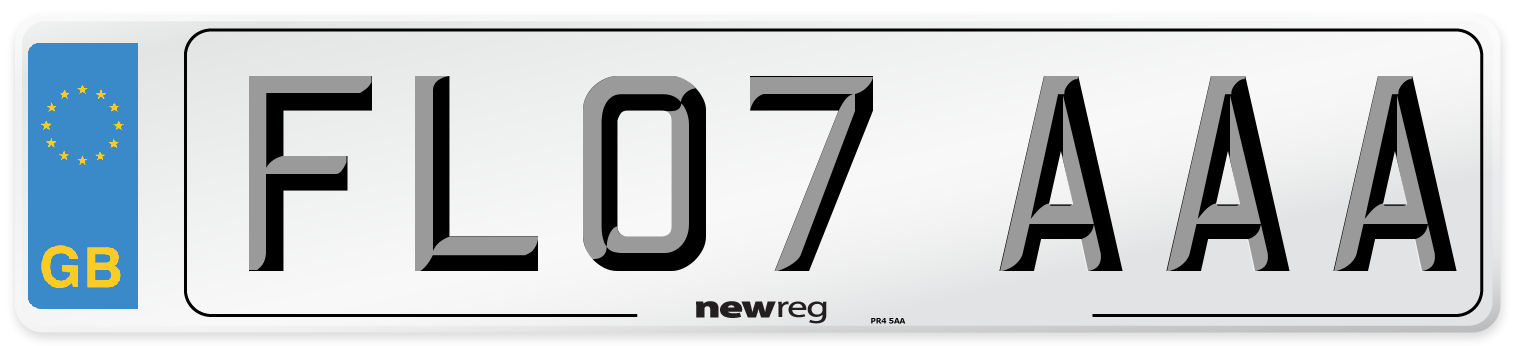 FL07 AAA Number Plate from New Reg
