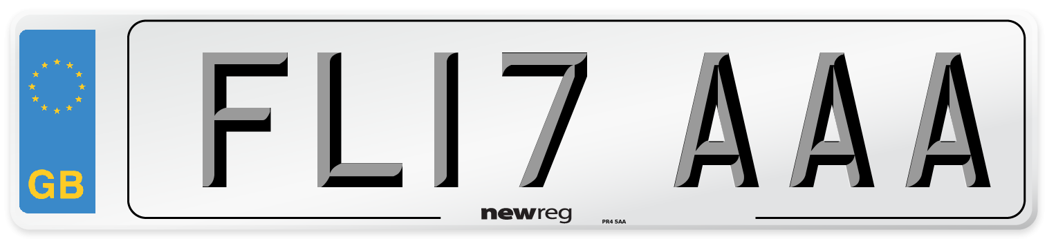 FL17 AAA Number Plate from New Reg