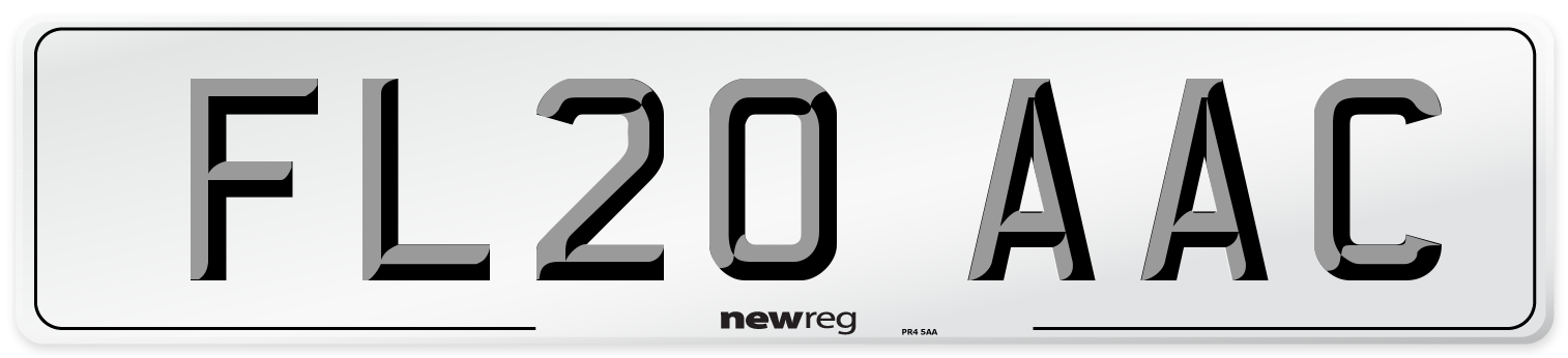 FL20 AAC Number Plate from New Reg