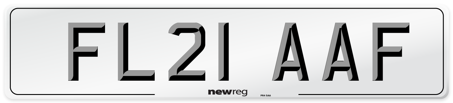 FL21 AAF Number Plate from New Reg
