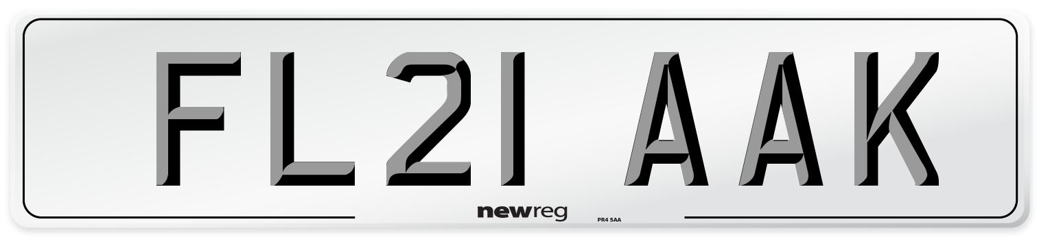 FL21 AAK Number Plate from New Reg