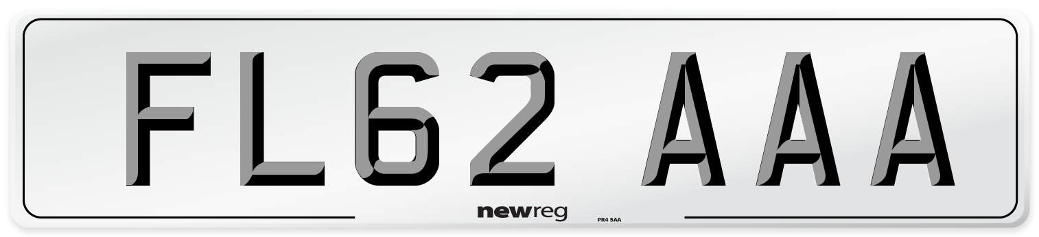 FL62 AAA Number Plate from New Reg