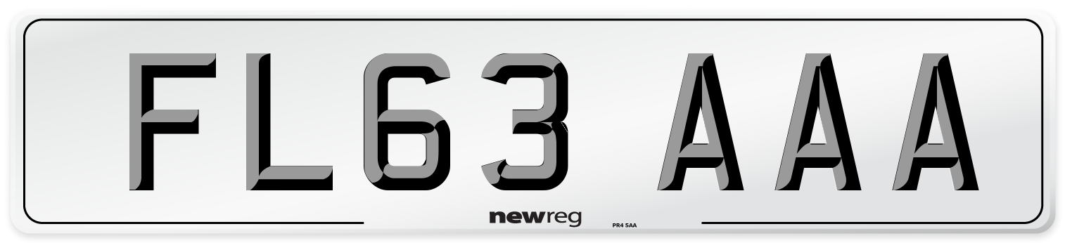 FL63 AAA Number Plate from New Reg