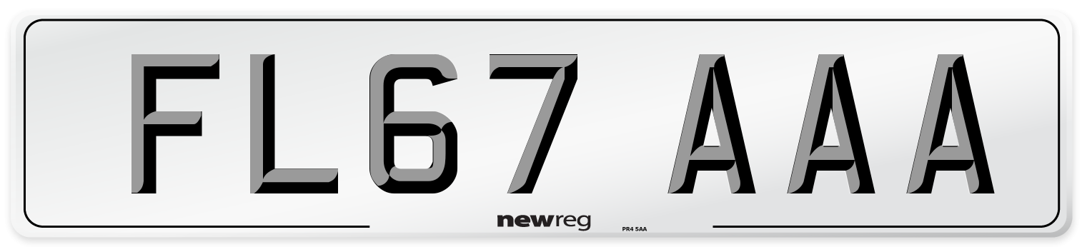 FL67 AAA Number Plate from New Reg