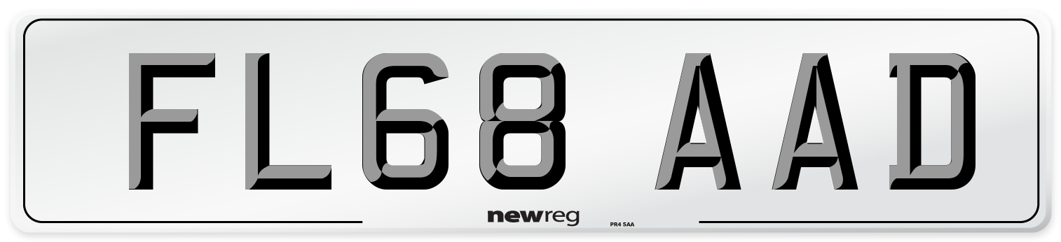 FL68 AAD Number Plate from New Reg