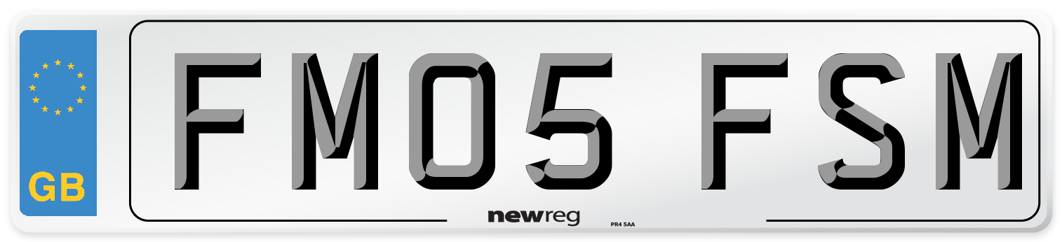 FM05 FSM Number Plate from New Reg