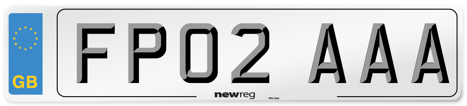 FP02 AAA Number Plate from New Reg