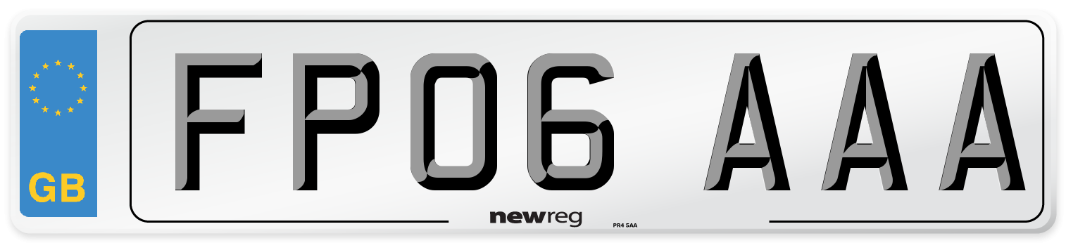 FP06 AAA Number Plate from New Reg
