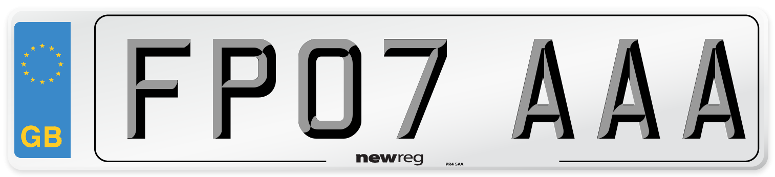 FP07 AAA Number Plate from New Reg