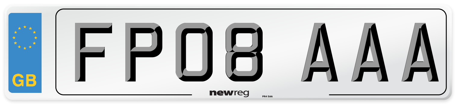 FP08 AAA Number Plate from New Reg