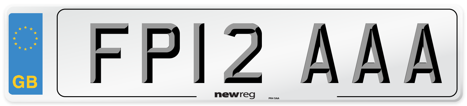 FP12 AAA Number Plate from New Reg
