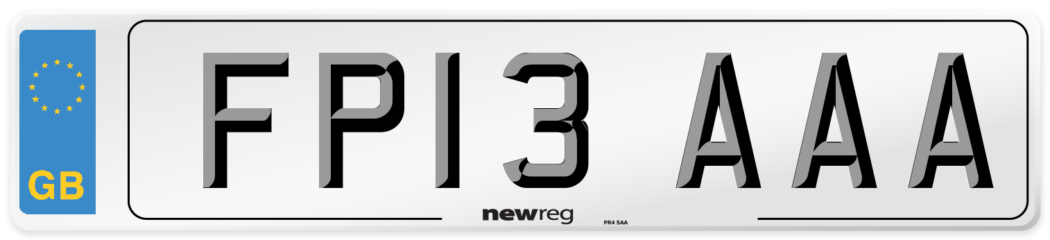 FP13 AAA Number Plate from New Reg
