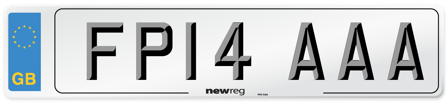 FP14 AAA Number Plate from New Reg