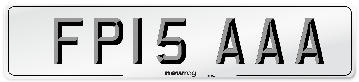 FP15 AAA Number Plate from New Reg