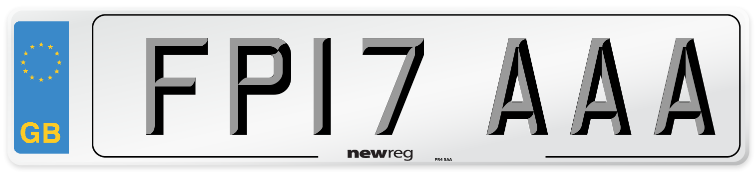 FP17 AAA Number Plate from New Reg