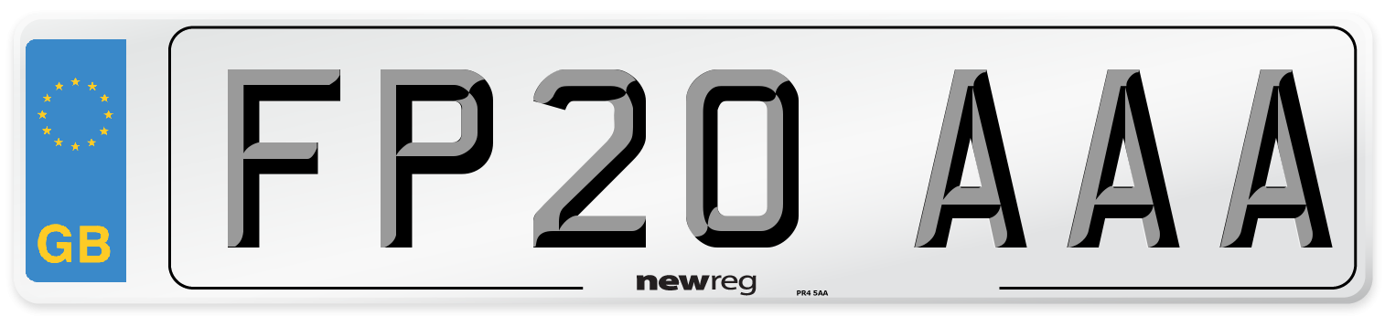 FP20 AAA Number Plate from New Reg