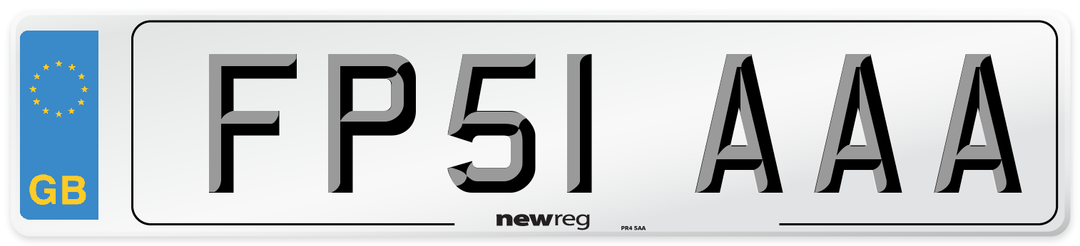 FP51 AAA Number Plate from New Reg