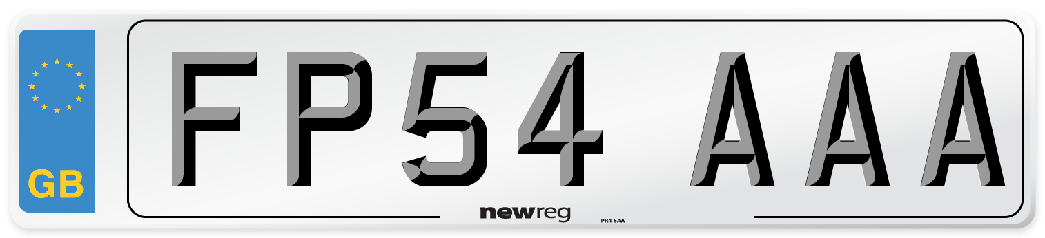 FP54 AAA Number Plate from New Reg