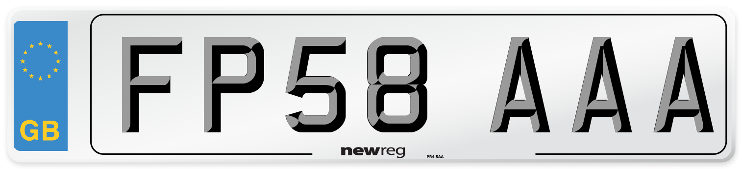 FP58 AAA Number Plate from New Reg
