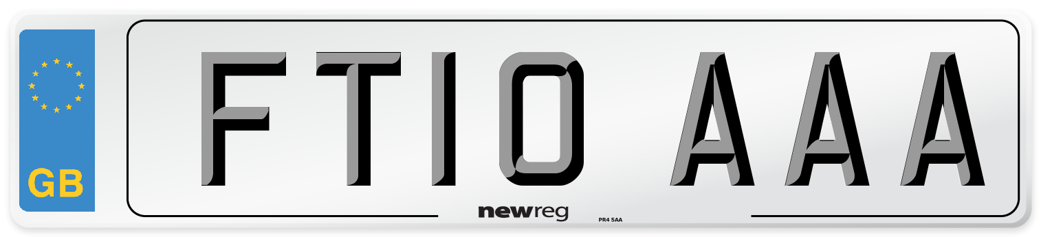 FT10 AAA Number Plate from New Reg