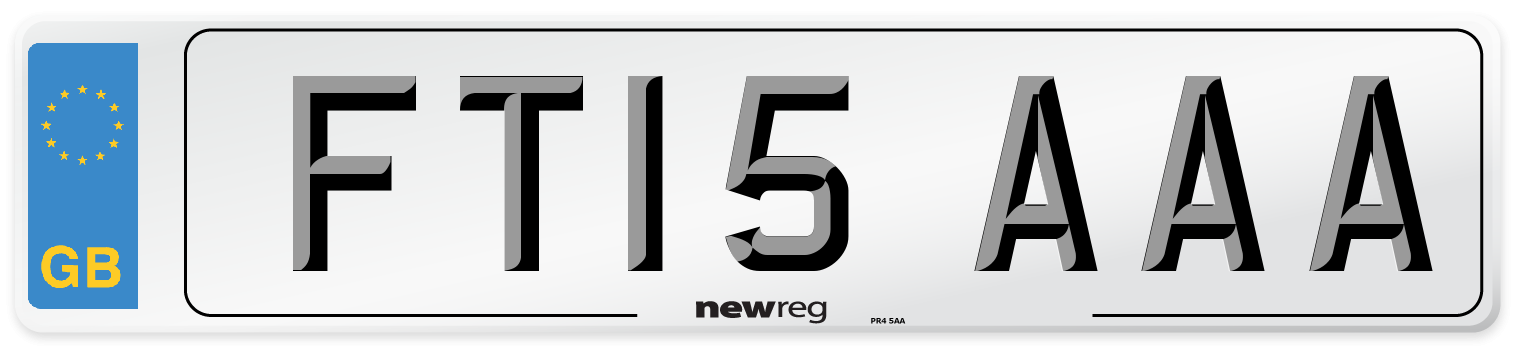 FT15 AAA Number Plate from New Reg