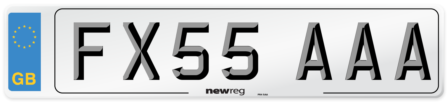 FX55 AAA Number Plate from New Reg