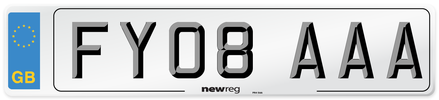 FY08 AAA Number Plate from New Reg