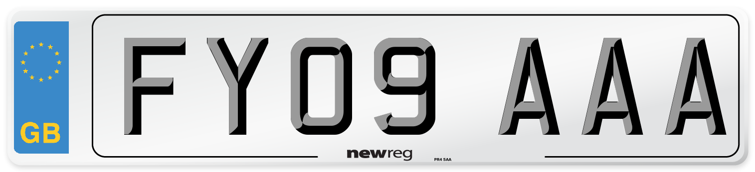 FY09 AAA Number Plate from New Reg