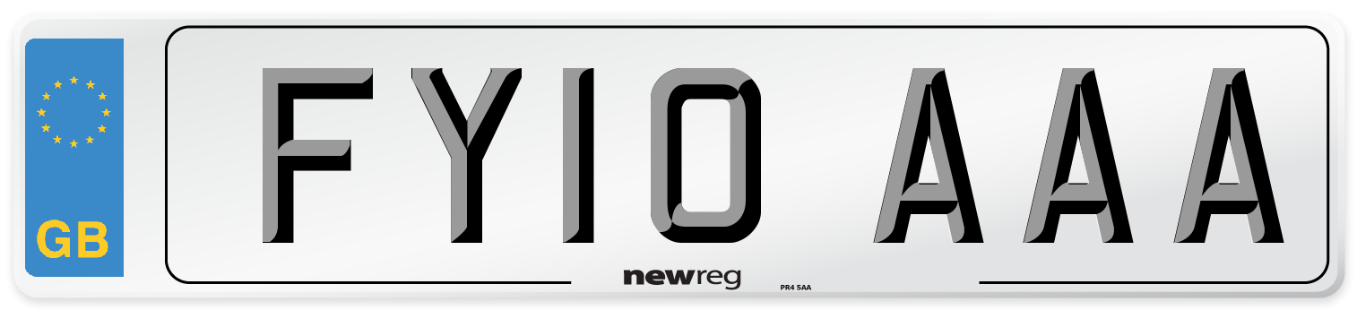 FY10 AAA Number Plate from New Reg