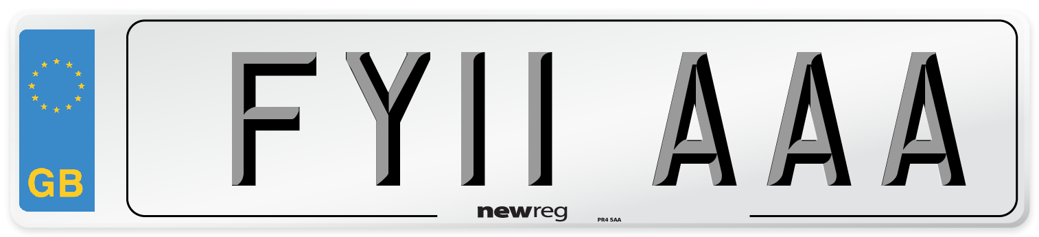 FY11 AAA Number Plate from New Reg