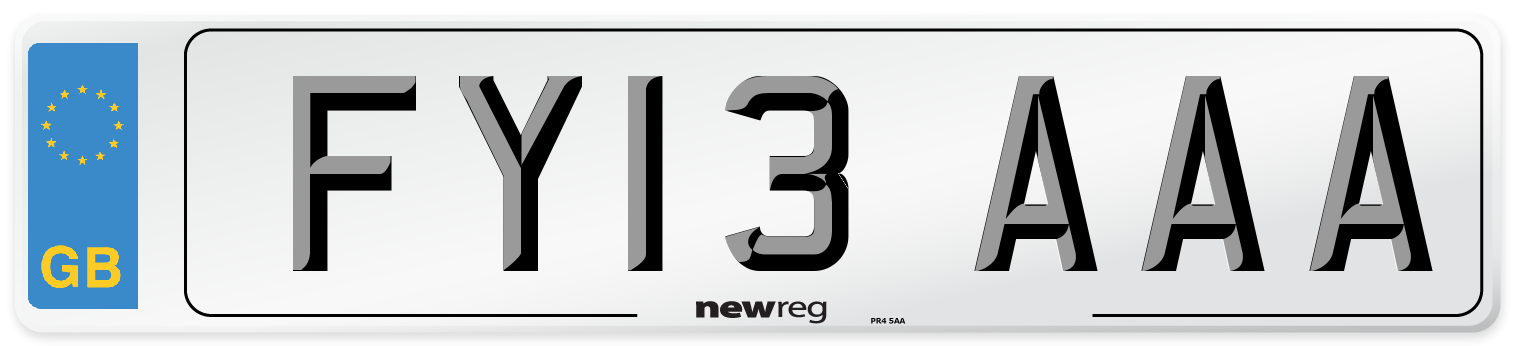 FY13 AAA Number Plate from New Reg